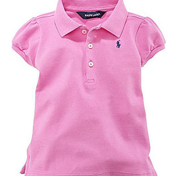 Ralph Lauren Childrenswear 2T-6X Mesh Polo Shirt - French Turquoise