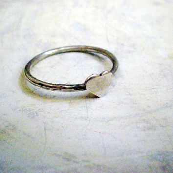 Heart ring by lilyja on Etsy