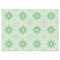Snowflake Lime Green Custom Tissue Paper by Janz