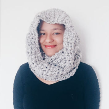 Chunky textured cowl scarf, Cowl scarf snood - The Guenevere cowl - Wool infinity scarf, Hooded scarf