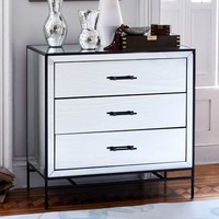 Mirrored 3-Drawer Dresser