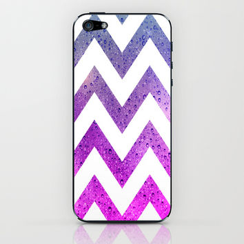Chevron with Rising Bubbles iPhone & iPod Skin by tjc555 | Society6