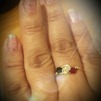 Beautiful  custom ring, made to order in your choice  of color scheme
