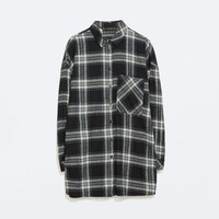 OVERSIZED CHECKED T-SHIRT Pictures