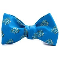 Delta Upsilon Bow Tie in Blue by Dogwood Black