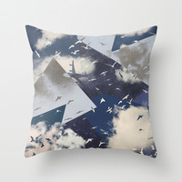 The Sky Throw Pillow by Paula Belle Flores