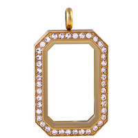 Gold Heritage Living Locket with Crystals by Swarovski