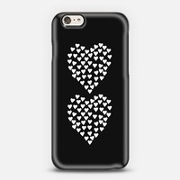 Hearts Heart x2 Black iPhone 6 case by Project M   Casetify