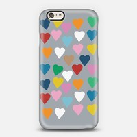 Hearts Colour Grey iPhone 6 case by Project M   Casetify