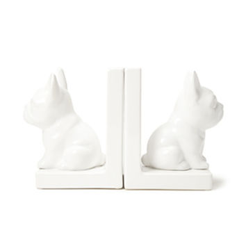 FOREVER 21 French Bulldog Bookend Cream One