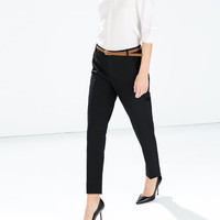Cool wool cropped trousers