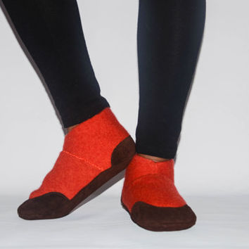 Unisex Cashmere Shoes from Recycled Materials, Eco-friendly Men & Women Cashmere and Leather Shoes. Size:USA Adults 6.5 -16.Sweet Potato Pie
