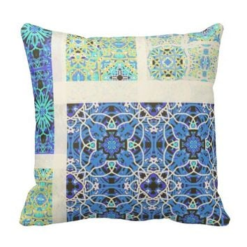 Calm and Mellow Blues Pillow by KCS