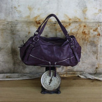 Italian leather Wild Plum Tote
