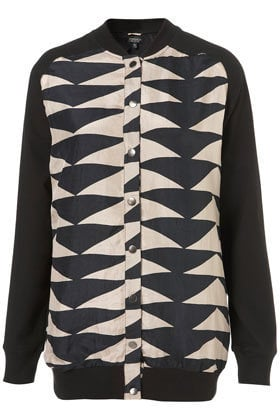 Longline Silk Aztec Bomber Jacket - New In This Week  - New In