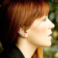 Lace Allure - Silver Filigree Ear Cuff