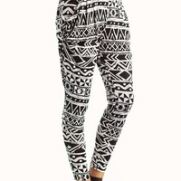 tribal-printed-harem-pants BLACKWHITE - GoJane.com