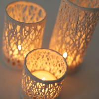 Branches of light (3 set) - porcelain candle holder by Hajime Design