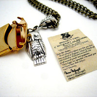 Owl Post Necklace with Hogwarts Acceptance by WolfbirdStudios