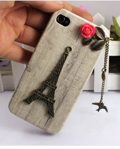 Eiffel Tower,bird,Iphone Case iPhone 4 Case, iphone 4 cover, New Hard Fitted Case For iphone 4 &amp; iphone 4S, Apple iPhone 4 Case