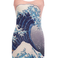 Big Wave Body-Conscious Dress(Arrival on August 17th) [NCSKYD0032] - $36.99 :