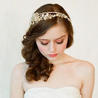 Double band golden tiara  gold or silver  Style 147  by myrakim