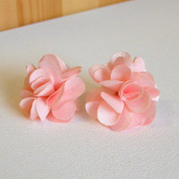 Peony Blossom Earrings [3070] - $9.00 : Vintage Inspired Clothing &amp; Affordable Summer Dresses, deloom | Modern. Vintage. Crafted.