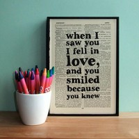 Romantic Quote Typographic Art Prin.. on Luulla