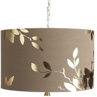 Gold Leaf Hanging Pendant Lamp