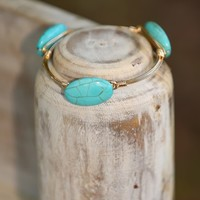 Between A Rock & A Hard Place Bracelet-Turquoise