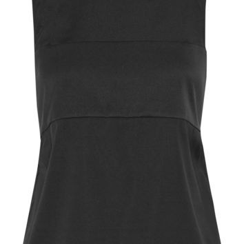 T by Alexander Wang - Layered stretch-silk twill top