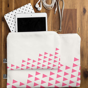 Allyson Johnson Pink Triangles Pouch
