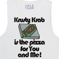 Krusty Krab Pizza Is The Pizza For You And Me-Unisex Snow T-Shirt