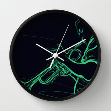 Neon Blues II Wall Clock by Texnotropio