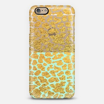 Mint And Gold Leopard - Phone Case iPhone 6 case by Nika Martinez | Casetify