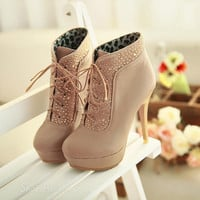 Zircon fashion waterproof high-heeled boots