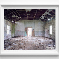 Abandoned House, Photography, Building, Photo, Print, Home Decor, Fine Art, Sunlight, Wall Art, Window, Bedroom, Living Room, Poster