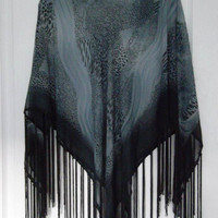 Grey  - Summer - Summer Poncho - Chiffon -Elegant
