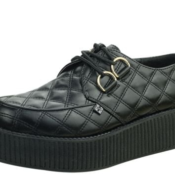 Black Quilted Creepers