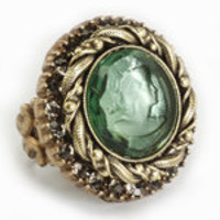 Vintage Inspired Rings by Ollipop- Erinite Intaglio Ring - Unique Vintage - Bridesmaid & Wedding Dresses