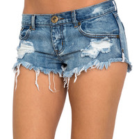 One Teaspoon Trashwhore cut-off shorts in Cobain