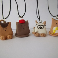 Big Bang Theory Inspired Kitty Cat Necklace Set