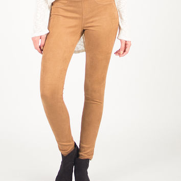 Simple and Stretchy Jeggings - Camel - Camel /