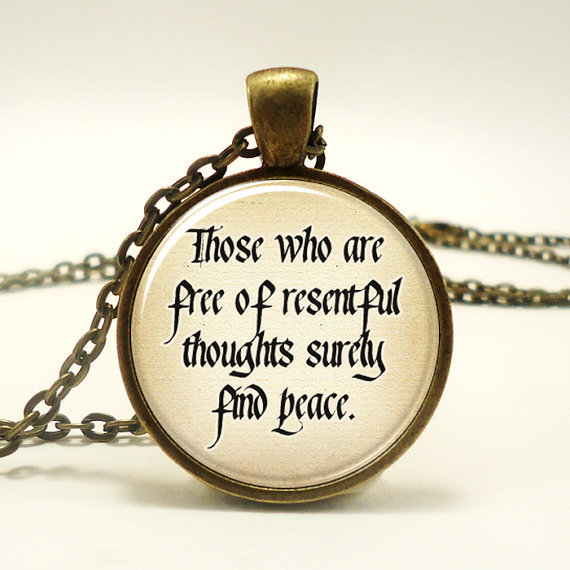 Buddhist Quote Necklace Peace Zen From
