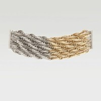 Two Tone Chainlink Magnetic Bracelet