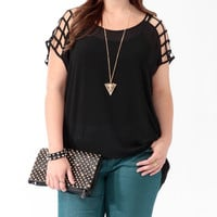 Sheer Cutout High-Low Top