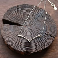 Sterling Silver Branch Necklace Twig Necklace Nature by 141ATELIER