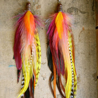 40% OFF the ENITRE SHOP: Half Baked Extra Long Feather Earrings