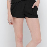 Draped Pocket Shorts