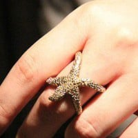 Star Fish Finger Cuff Ring | LilyFair Jewelry